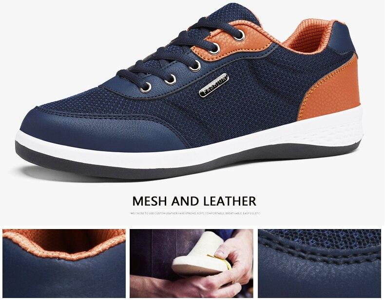 HTB1LE.CONTpK1RjSZFKq6y2wXXa3 2019 Autumn New  Men Shoes Lace-Up Men Fashion Shoes Microfiber Leather Casual Shoes Brand Men Sneakers Winter Men FLats