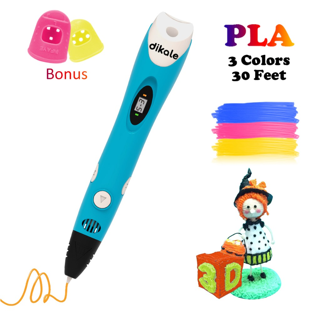 Dikale 3D Print Pen With USB Cable And Power Adapter Perfect Gift for Kids & Adults