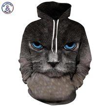 Mr.1991inc костюм с капюшоном топы мужчины/женщины 3d толстовки печати big blue eyes cat капюшоном толстовки тонкий стиль пуловеры