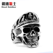 Punisher Skull Ring Stainless Steel Fashion Unisex Jewelry