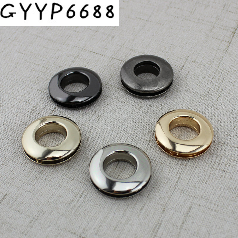 6 Colors 13mm 5 Colors Zinc Alloy  Planar Circular Screw Eyelet Dress Luggage Hardware Accessories Screws Eye Corn Eye Screws