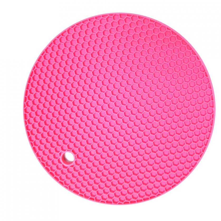 18cm Round Silicone Non-slip Heat Resistant Mat Coaster Cushion Placemat Pot Holder Kitchen Accessories 14