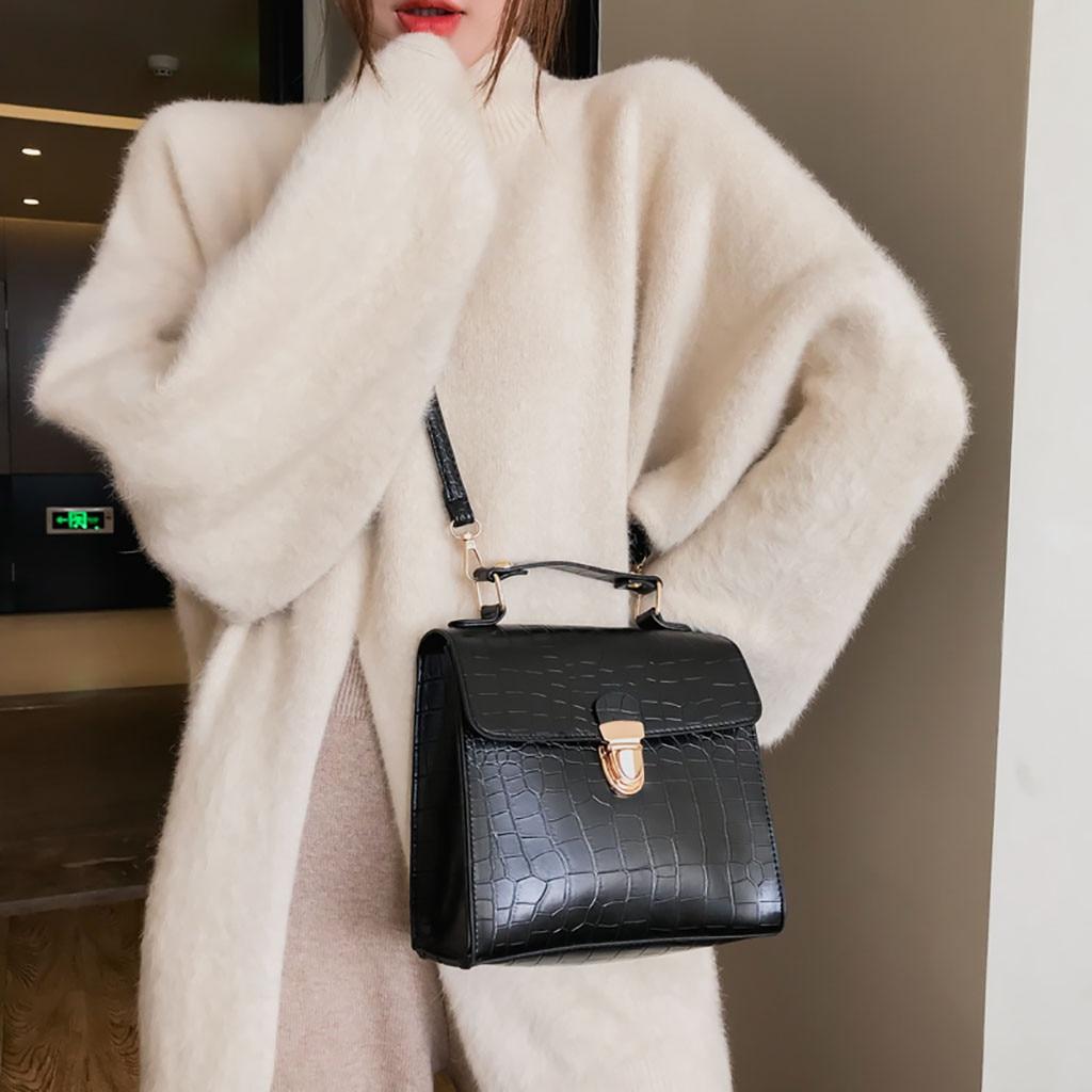 OCARDIAN Handbags Flap Messenger-Bag Wild-Shoulder-Bag Crocodile-Pattern Vintage Casual