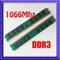 КОМПЛЕКТ 8 ГБ 2x4 ГБ PC3-8500 DDR3-1066 240-КОНТ DDR3 1066 МГЦ Настольных Памяти ddr3 1066 RAM desktop 240-контактный DIMM памяти Бесплатная доставка