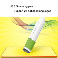 2018 new MSEO6 USB Multilingual scanning pen support Arabic  English  French  German  28 national languages Translation function Scanners    -