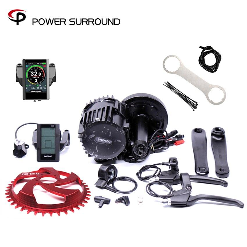 Offre spéciale Bicicleta Eletrica 8fun Bafang 48v1000w Bbshd/bbs03 vélo électrique Kit Mi Entraînement kits de moteurs Pour Ou Graisse Ebike