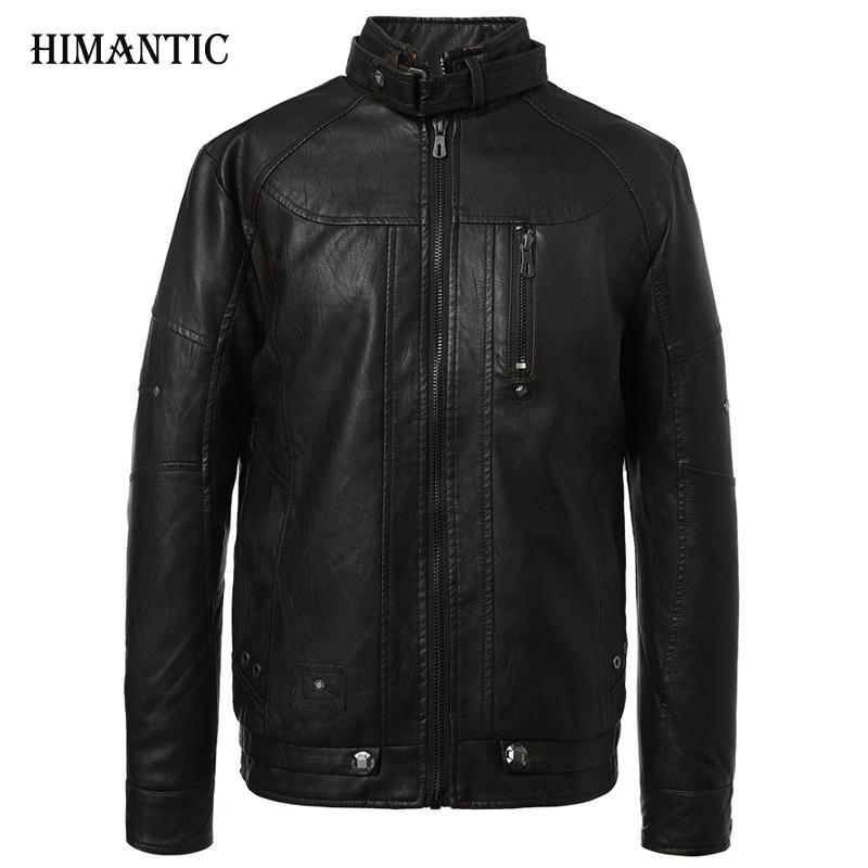 Leather Jacket Men Motorcycle Jackets jaqueta de couro masculina casaco male chaqueta cuero hombre mens leather bomber jacket цена