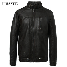 Leather Jacket Men Motorcycle Jackets jaqueta de couro masculina casaco male chaqueta cuero hombre mens leather bomber jacket