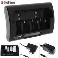 Soshineのユニバーサルlcdディスプレイバッテリー充電器12から18ボルトdc用ニッケル水素/ニカド/aa/aaa/9ボルト/dバッテリー付きeu/米国プラ