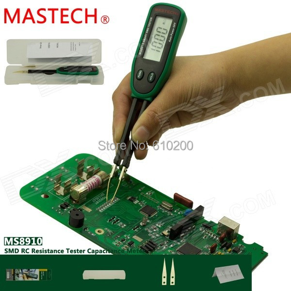 MASTECH <font><b>MS8910</b></font> High quality Smart SMD RC Resistance Capacitance Diode Tester Multi Meter Digital SMD Tester Auto Ranging image
