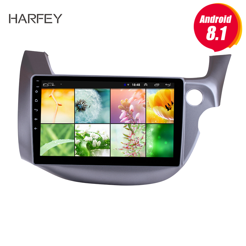 Harfey 10 1 Head Unit Touch Screen for HONDA FIT JAZZ 2007 2013 RHD Android 8