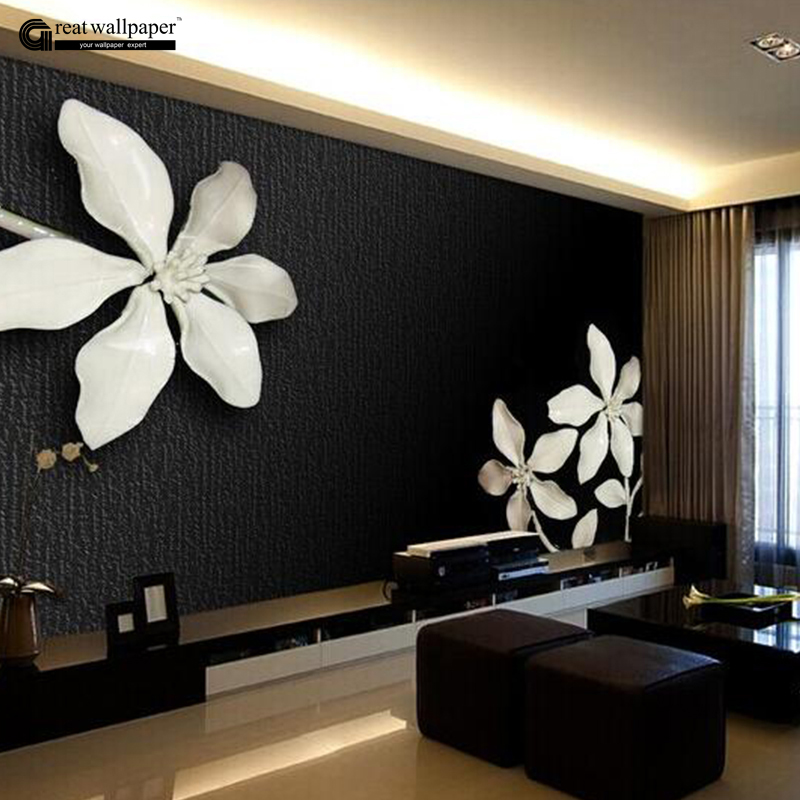 Custom any size 3d wall mural wallpapers for living room Black and white living room wallpaper