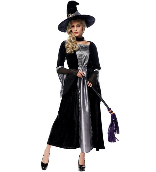 Ensen Witch font b cosplay b font costumes vestidos fantasia adulto dress queen fantasias feminina scary