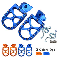 NICECNC RACING FOOT PEGS FOOTRESTS For Husqvarna TC TE FC FE TX FS 65 85 125 250 300 350 390 450 501 Husaberg FE650 FE FS 570