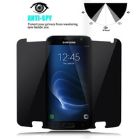 Vidrio Templado antideslizante para Samsung Galaxy A3 A5 A8 A7 2016 Protector de pantalla de privacidad para Samsung Galaxy A3 A5 A7 2017