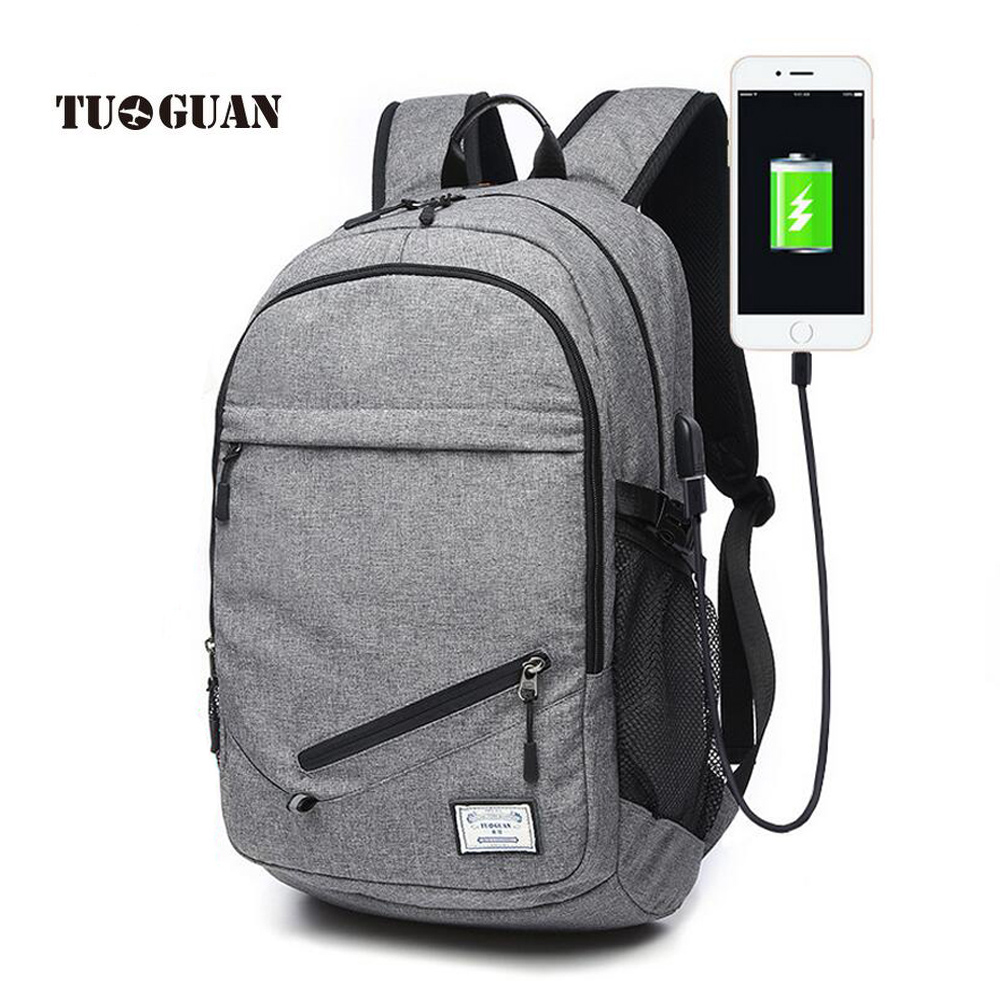 TUGUAN 2017 NEW Fashion Men Backpacks College Student ...