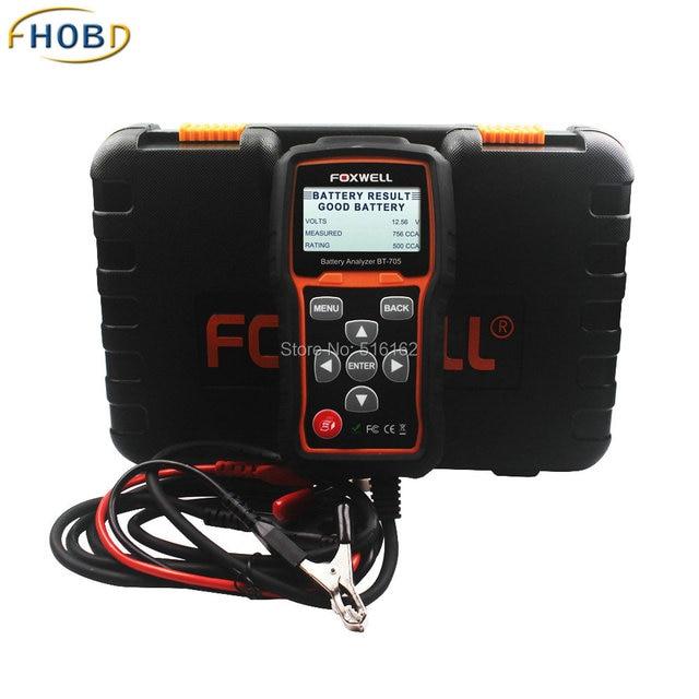 100% Original Foxwell BT705 BT-705 100-2000CCA de Teste do Analisador de Bateria para Carro Caminhão Dever