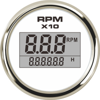 1pc New Arrival 0 9900RPM Digital Tachometers 52mm Diameter Rev Counters LCD Revolution Meters with Hourmeters for Auto Boat