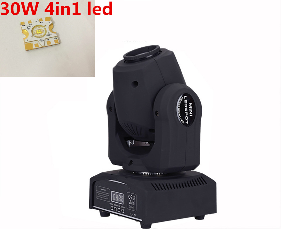 30W LED Spot moving head Light  disco party lights dmx stage spot gobo led moving head light 4pcs lot 30w led gobo moving head light led spot light ktv disco dj lighting dmx512 stage effect lights 30w led patterns lamp