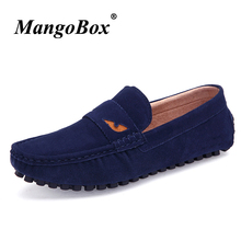 2018 Man Casual Shoes Black Blue Driving for Male Comfortable Classic Slip-on Spring Autumn Loafers Flat