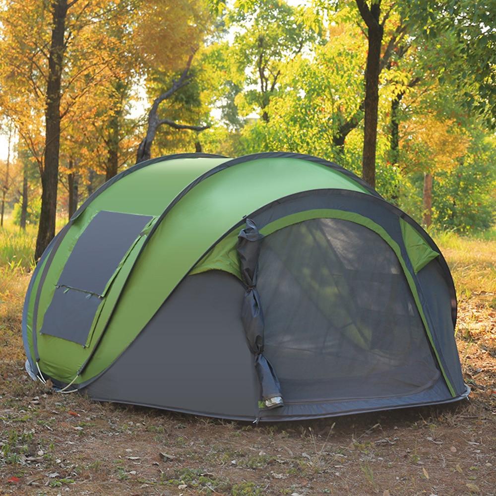 Extérieur jeter tente extérieure automatique tentes jeter pop up étanche camping randonnée tente étanche grande famille tentes