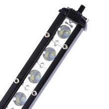 Car Decoration Lighting Ultrathin 72W Off-road Light Bar 24 LED Waterproof Lamp Easy to Install and Remove Universal Type