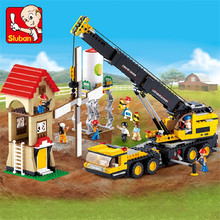 767Pcs City Engineering Crane Truck Model Building Blocks Kits LegoINGLs Technic DIY Bricks Educational Toys for Children цена