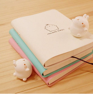 Cute Kawaii Cartoon Rabbit Journal Notebook Diary Planner Notepad for Kids Gift Korean Stationery WJ0014 dolphin kid notebook cartoon password diary lockable korea stationery notebook kawaii notepad school supplies lovely xmas gift