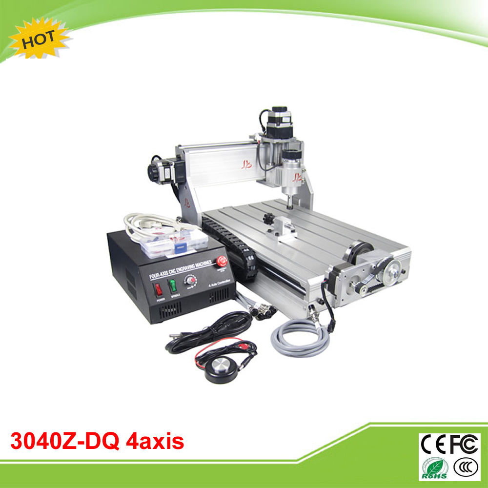CNC 3040Z-DQ 4 axis mini CNC router with 4th rotation axis for 3d cnc free tax to RU cnc 3040z dq 3 axis mini cnc milling machine ball screw free tax to ru