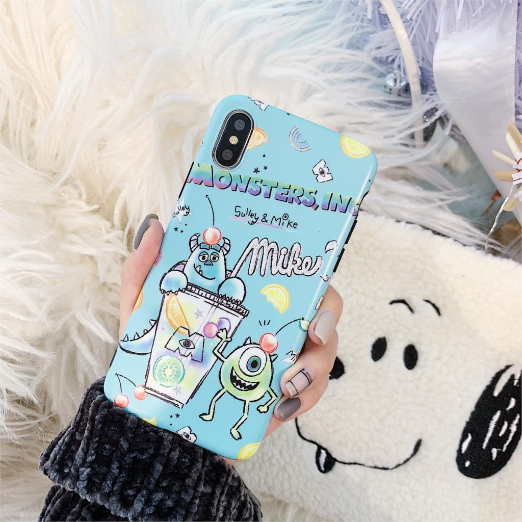Cute Cartoon Monsters University Funda For Iphone X Case IMD Phone Case For Iphone X XR XS Max 6 6S 7 8 Plus Cover Soft TPU Capa