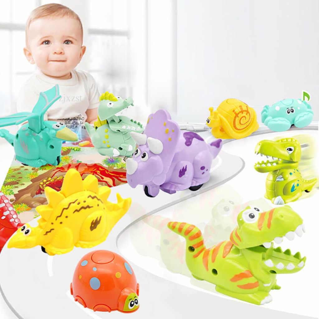 12 Hewan Mainan Mobil Inersia Skuter Anak Tekanan Inersia Geser Dinosaurus Mobil Mini Slider Hewan Hadiah Z426