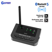 Long Range Bluetooth 5.0 Transmitter Receiver 3 In 1 aptX HD& APTX Low Latency Wireless AUX & Optical Adapter for TV Home Stereo недорого