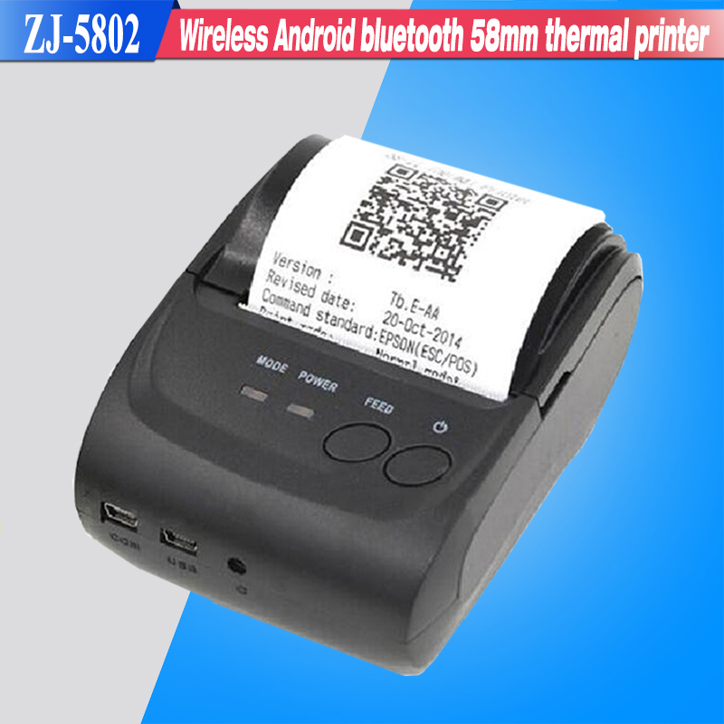 Free SDK Wireless Android Bluetooth Thermal font b Printer b font 58mm Mini Bluetooth Thermal Receipt