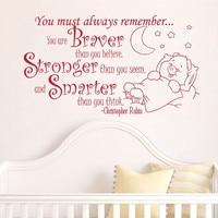 Creatieve baby te slapen woondecoratie Baby Citaat Muurtattoo Nursery Verwijderbare Muurstickers woondecoratie # T123