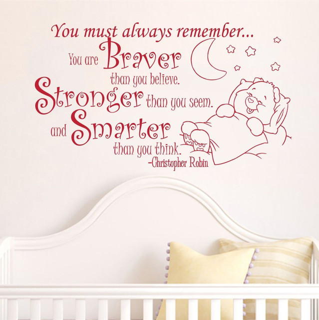 Welcome Home Baby Boy Quotes: Creative Baby To Sleep Home Decoration Baby Quote Wall