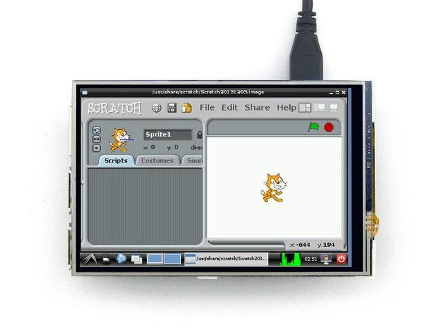 Raspberry Pi Модуль ЖК-Дисплей 4 дюйма 320*480 TFT Резистивный Сенсорный Экран SPI Интерфейс для Любой Версии из Rapsberry pi