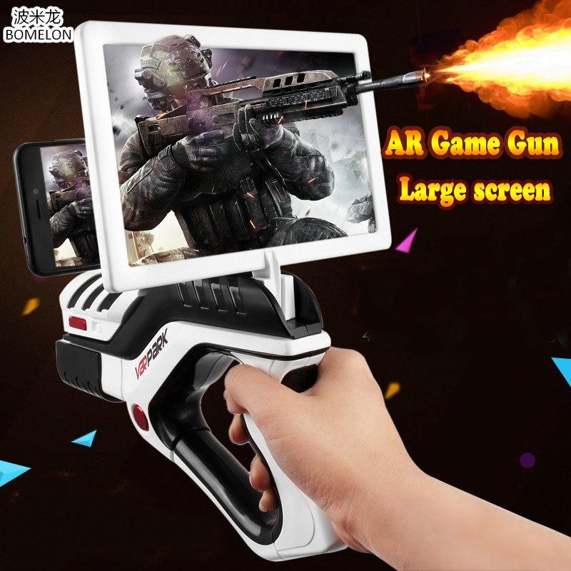 AR jeu pistolet 3d jeu jouet pistolet pistolet Mobile Bluetooth poignée contrôleurs pour Android Ios enfants jouets garçon cadeau de noël