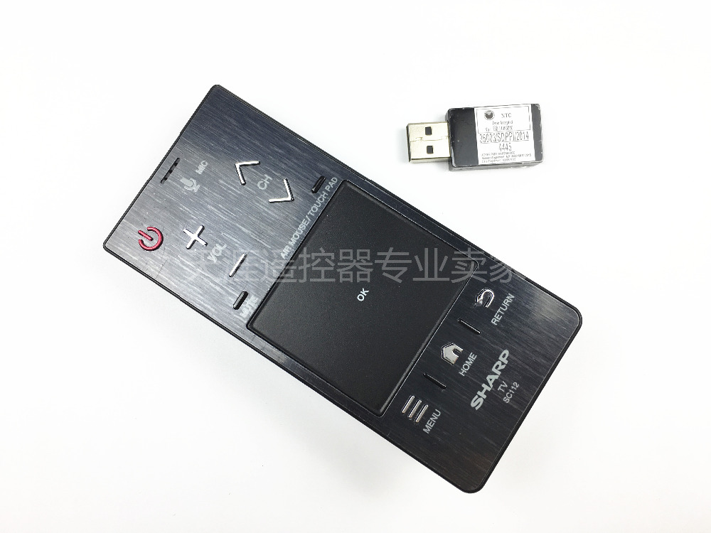 New Original LED TV Remote Control For Sharp SC112 Voice Air Mouse Touch PAD With USB