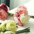 2017 Nuevas Flores Artificiales Ramo de Novia Ramo de La Boda Para Las Damas de Honor de La Mezcla Colores Barato Ramos de Novia De Mariage