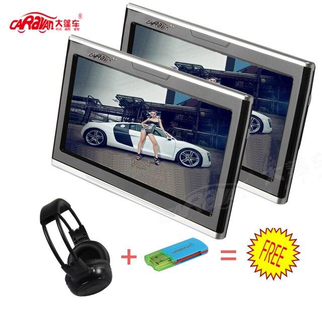 CARAVAN 2PCS Universal Android 4.4.4 Car Headrest Monitor 10.1 Inch 1280*800 Slim Capacitive HD Digital TFT Tonch Screen 3G-USB