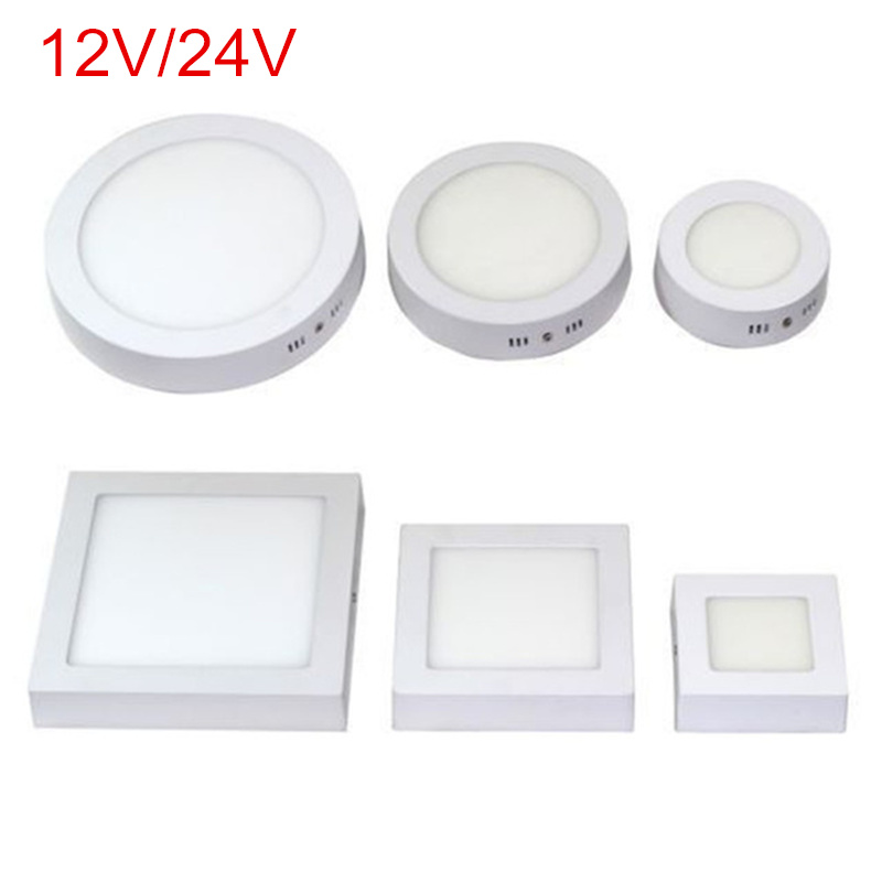 9W/15W/25W Round Led Panel Light Surface Mounted Led ceiling Downlight AC/DC 12V/24V + LED Driver Free shipping