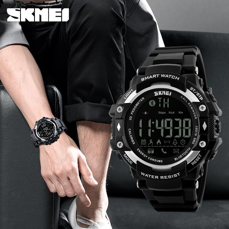 Prix pour Smart Watch Nouveaux hommes Sport Bracelet SKMEI 1226 Montres Message D'appel Rappel podomètre Calories bluetooth montre étanche