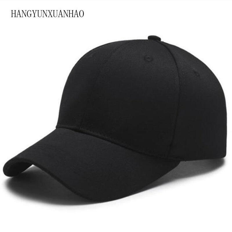 2019 Black Cap Solid Color Baseball Cap Snapback Caps Casquette Hats Adjustable Casual Gorras Hip Hop Dad Hats For Men Women