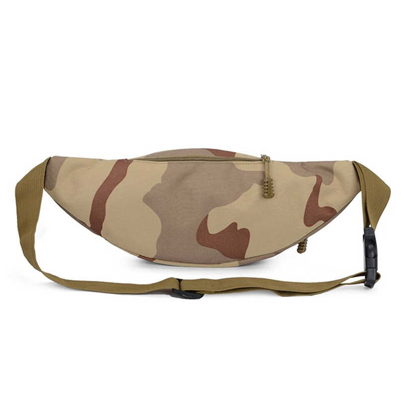 Aelicy Mannen Outdoor Trekking Taille Pack Reizen Sport Wandelen Fanny Packs Camouflage Heuptas Mannelijke Militaire Waterdicht Borst Zak
