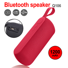 2019 Portable Wireless Loudspeaker Subwoofer Mini Speakers Bluetooth Outdoor Speaker Support TF Card FM Radio Aux Input