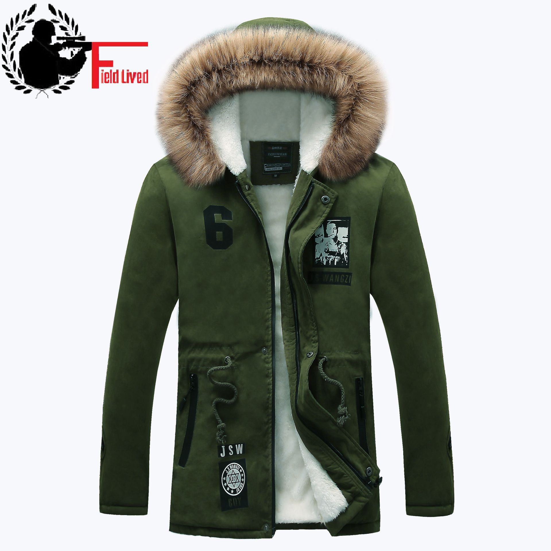 Thick Cotton Comfortable Long Parka Male Casual Slim Fit Hooded Fur Winter  Jackets Mens Coat Warm