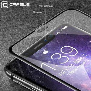 Image 4 - CAFELE Ekran Koruyucu iPhone Xs için Max Xr 4D temperli cam Kapak HD Temizle Koruyucu Cam Apple iPhone 5.8 6.1 6.5