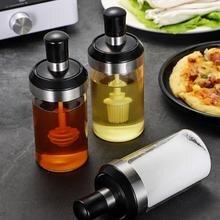 Стеклянный резервуар для приправ, Кухонный Набор для специй, бутылки, ложка для перца, контейнеры для приправ, масляная щетка, контейнер для меда, контейнер для хранения продуктов