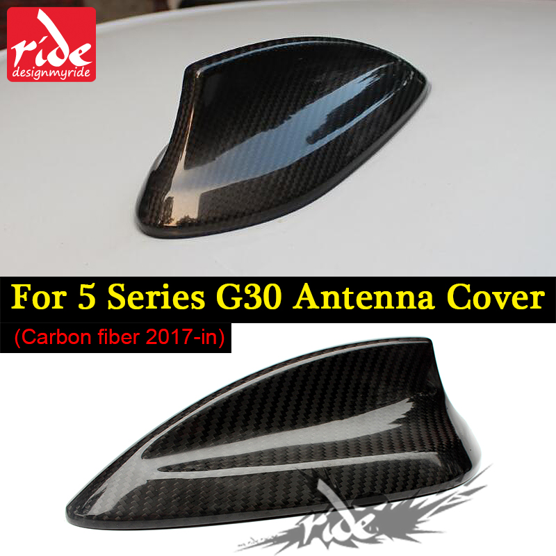 <font><b>G30</b></font> Car Roof Antenna Shark Fin Carbon Fiber For 5-Series <font><b>G30</b></font> <font><b>520i</b></font> 525i 530i 535i 540i 550i 550ixD Shark Fin Antenna Cover 2014+ image