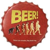NOVO! única Forma De Tampa de Cerveja Retro Arte Adesivos de Parede Poster Vintage Sinal Da Lata de metal Cartazes Café Cerveja Pub Clube Casa Múltipla decalque